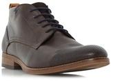 Bertie Dark Brown 'conga' Perforated Toecap Lace Up Boot
