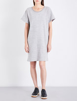 James Perse Fleece-lined cotton-jersey dress