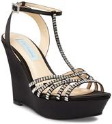 Betsey Johnson Ember Embellished T-Strap Wedge Sandal