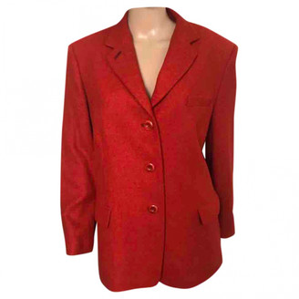 Non Signã© / Unsigned Oversize Red Wool Jackets