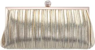 Nina Handbags Pleated Frame Clutch - Ani