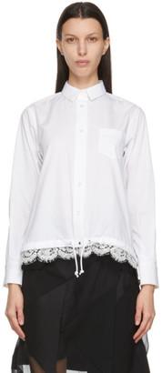 Sacai White Lace Hem Shirt