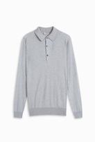 John Smedley Long Sleeve Polo Shirt