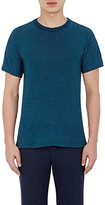 Boglioli MEN'S STRIPED T-SHIRT-NAVY SIZE S