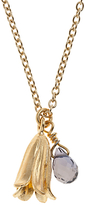 Alex Monroe 22ct Gold Plated Iolite Baby Bluebell Pendant Necklace, Gold