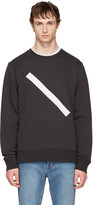Saturdays NYC Black Bowery Slash Sweatshirt