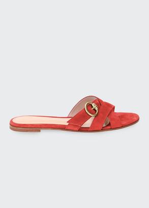 Gianvito Rossi Crisscross Buckle Sandals