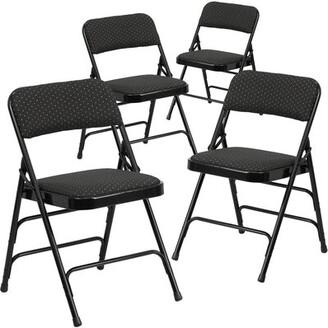 Symple Stuff Laduke Curved Padded Folding Chair Symple Stuff