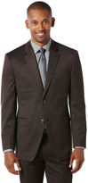 Perry Ellis Brown Tic Weave Suit Jacket