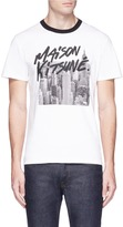MAISON KITSUNÉ New York skyline print T-shirt