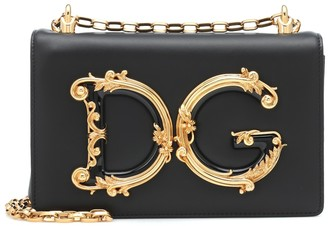 Dolce & Gabbana Girls leather shoulder bag
