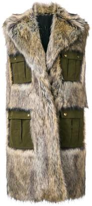 Philosophy di Lorenzo Serafini sleeveless faux-fur coat