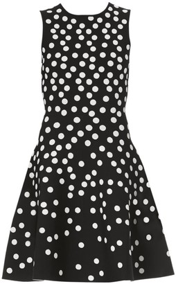 Carolina Herrera Polka Dot Fit-&-Flare Dress