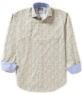 Thomas Dean Long-Sleeve Poplin Novelty Print Woven Shirt