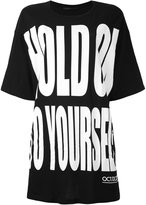 Haider Ackermann 'Hold on to Yourself' oversize T-shirt - women - Cotton - S
