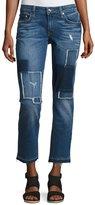 Derek Lam 10 Crosby Mila Patchwork Mid-Rise Slim Boyfriend Jeans