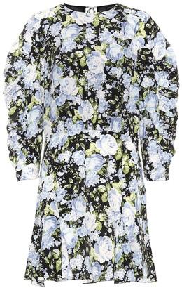 Les Rêveries Floral silk minidress
