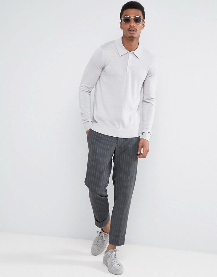Reiss Polo In Merino Wool