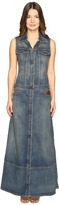 Just Cavalli Sleeveless Button Front Denim Maxi Dress Women's Dress