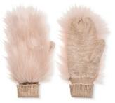 Who What Wear Women's Fur Mittens