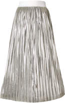 Alice + Olivia Alice+Olivia metallic pleated midi skirt
