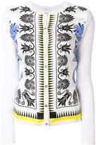 Versace printed cardigan