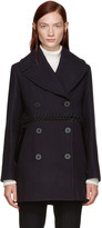3.1 Phillip Lim Navy Wool Laced Coat
