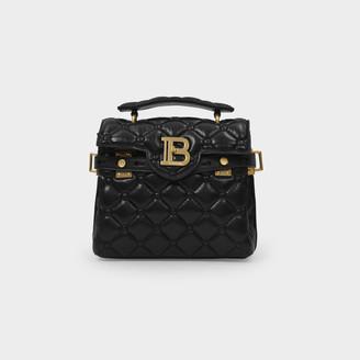 Balmain Handbag Bbuzz 23 In Black Lambskin Pillow