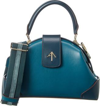 MANU Atelier Demi Web Leather Shoulder Bag