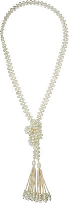 Greenbeads Pearly Necklace with Tassels