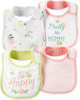 Carter's Baby Girls' 4-Pack Bibs