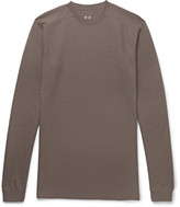 Rick Owens Slim-Fit Waffle-Knit Wool Sweater