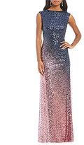 Cachet Ombre Sequin Gown