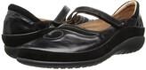 Naot Footwear Matai (Black Madras Leather/Black Suede) Women's Maryjane Shoes