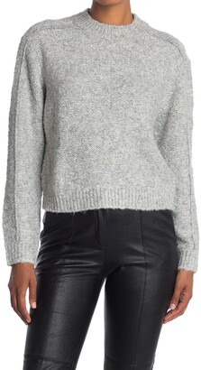 Reiss Lark Cropped Brushed Wool Blend Sweater