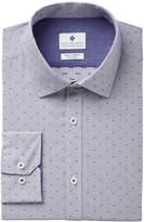 Ryan Seacrest Distinction Ryan Seacrest Distinctionandtrade; Men's Slim-Fit Stretch Non-Iron Performance Pin Dot Dress Shirt, Created for Macy's