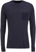 Brave Soul Men's Ween Interest Patch and Pocket Sweatshirt - Navy