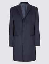 Limited Edition Wool Blend Revere Overcoat