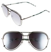 Marc Jacobs Women's 54Mm Aviator Sunglasses - Dark Ruthenium