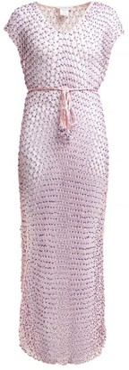 My Beachy Side - Beaded Macrame Cover Up - Pink
