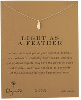 Dogeared Light As a Feather Reminder Necklace