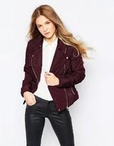 Vero Moda Short Padded Jacket With Asymmetric Zip