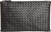 Bottega Veneta Women's Intrecciato Flat Zip Case-BLACK