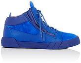 Giuseppe Zanotti Men's Double-Zip Mid-Top Sneakers-BLUE