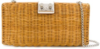 Rodo wicker cross body bag