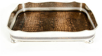 One Kings Lane Vintage English Plated Barware / Serving Tray - La Maison Supreme - silver