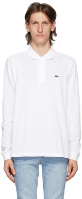 Lacoste White L.12.12 Long Sleeve Polo