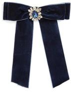 Cara Women's Crystal Velvet Bow Pin