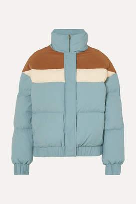 REJINA PYO Otis Color-block Quilted Shell Jacket - Light blue