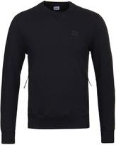 Cp Company Black Crew Neck Pocket Sweatshirt